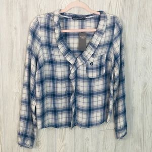Abercrombie & Fitch NWT Plaid Ruffle Top Sz S